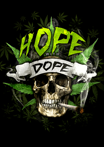 Picture of HOPE WITH DOPE  - STICKER